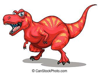 agudo, dinosaurio, dientes