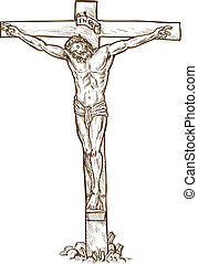 ahorcadura, jesucristo, cruz