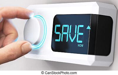 Ahorrando dinero, disminuyendo el consumo de energía