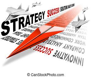 aire, éxito, estrategia