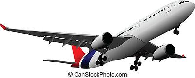 airlines., vector, ilustración