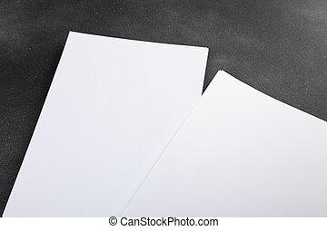 aislado, cartel, diseño, aviador, reemplazar, a4, gris, blanco, mockup, su