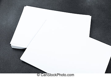 aislado, cartel, diseño, o, aviador, negro, a4, a5, lugar, papel, blanco, su, maqueta