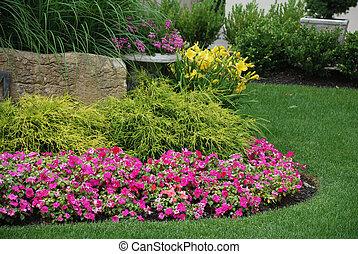 ajardinado, jardín