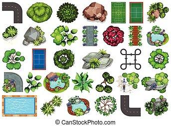 al aire libre, elementos, objetos, naturaleza, planta, colección, themed