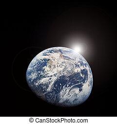 Al amanecer del espacio