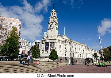 Al ayuntamiento de Auckland