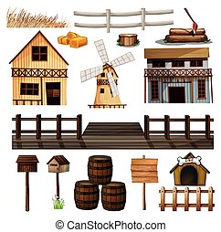 Al estilo country de edificios y otros objetos