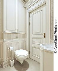 Al estilo neoclásico del baño