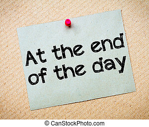Al final del día
