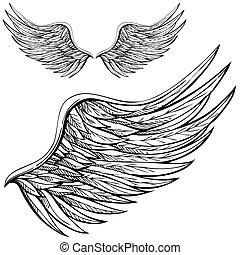 Ala de ángel Cartoon