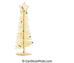 alambre, árbol, navidad, oro
