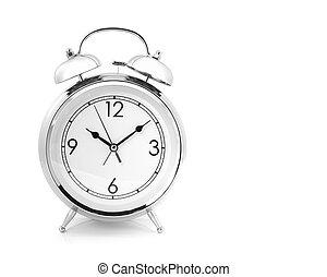 alarma, dé cuerda, tipo, reloj