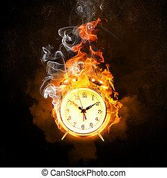 alarma de incendios, reloj