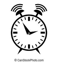alarma, resonante, reloj