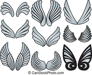 Alas de ángel estilizadas