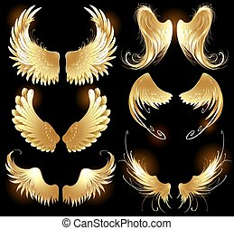 Alas doradas de ángeles