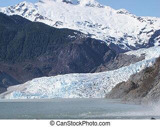 alaska, mendenhall, juneau, glaciar