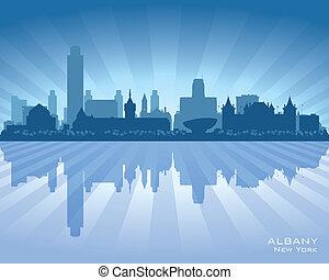 Albany New York City Skyline vector silueta