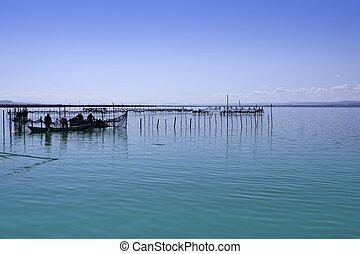 Albufera valenciala lago húmedo, mediterranea