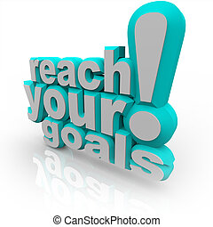 alcance, -, animar, triunfe, metas, palabras, usted, su, 3d