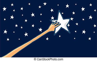 Alcanza las estrellas o el éxito, Horizontal