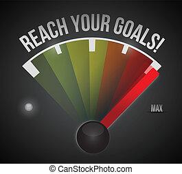 Alcanza tus metas de velocómetro de diseño de ilustración