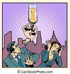 alcohólicos, lucha, anónimo, alcohol