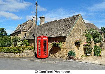 Aldea en Inglaterra rural