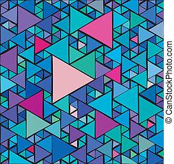aleatorio, triángulos, plano de fondo