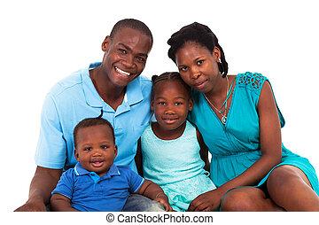 Alegre familia americana