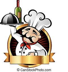 Alegre ilustración de chef
