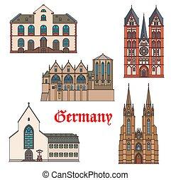 alemania, arquitectura, marburg, viaje, señales