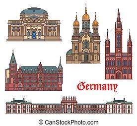 alemania, arquitectura, wiesbaden, viaje, señales