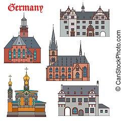 alemania, darmstadt, arquitectura, viaje, señales