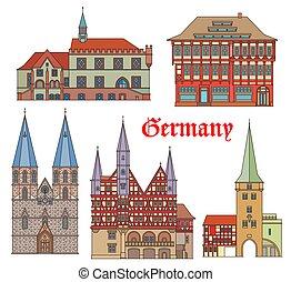 alemania, señales, edificios, arquitectura