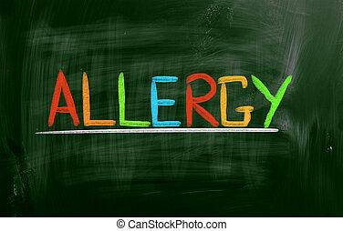 alergia, concepto