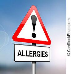alergias, warning.
