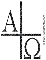 alfa, imagen, omegs, icono