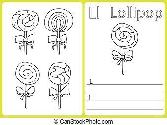 Alfabeto A-Z - hoja de rompecabezas, ejercicios para niños - libro de colorear