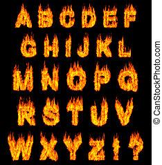 alfabeto, abrasador