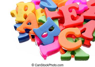 alfabeto, cartas