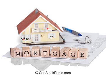 alfabeto, concepto, hipoteca