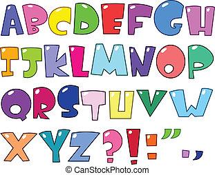 Alfabeto de cartón
