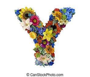 Alfabeto de flores