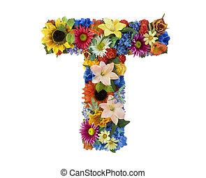 Alfabeto de flores T