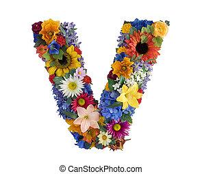 Alfabeto de flores - V