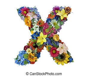 Alfabeto de flores X