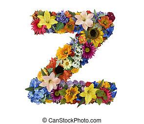 Alfabeto de flores Z
