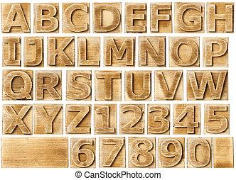 Alfabeto de madera